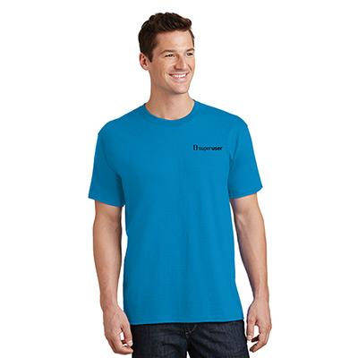 port & company® - core cotton tee (colored)