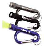 20040 - Metal Carabiner Flashlight with Split Ring