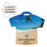 Custom Promotional Beach Scene T-Shirt Luggage Tag
