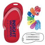 Customized Sandal Luggage Tag  - Promotional Sandal Luggage Tag