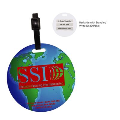 globe luggage tag