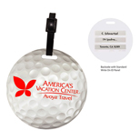 Custom golf ball luggage tag - Promotional golf ball luggage tag