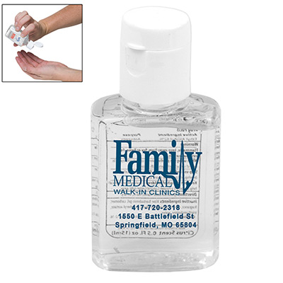 .5 oz compact hand sanitizer bottle