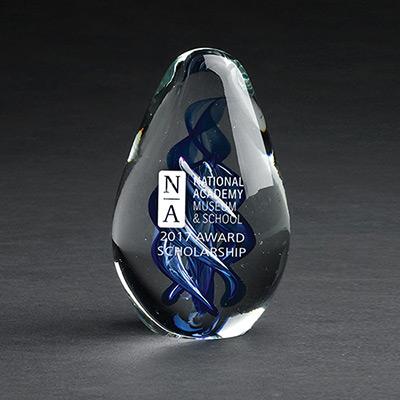 Blue Azure Art Glass Award