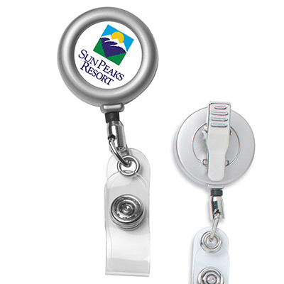 "24"" cord metal retractable badge reel"
