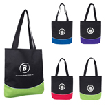 20293 - Color Curve Accent Panel Tote