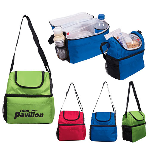 duo compartment lunch bag