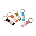 Promotional Leather Strap Keyring - Custom Rectangular shaped Keyring