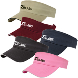 Promotional Sandwich Sport Visor, Personalized Cotton Twill Sport Visor
