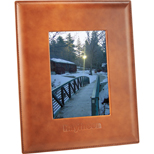 Custom Cutter & Buck Legacy Frame, Logo Printed Leather Photo Frame