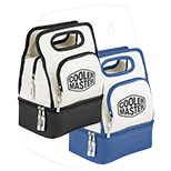 Custom Dual Compartment Lunch Cooler, Personalized Zippered Lunch Cooler