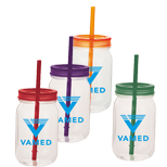 Promotional Game Day Mason Jar, Logo Imprinted 25oz Mason Jar