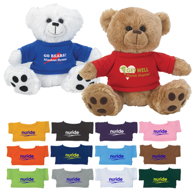 plush big paw bear with shirt