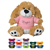 Printed 6' Plush Small Paw Dog, Personalized Stuffed Dog with Shirt