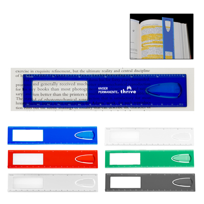 magnifying ruler with bookmark