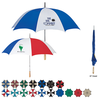 Customizable 60' Arc Golf Umbrella, Personalized Arc Golf Umbrella