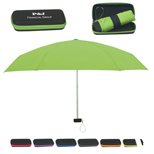 "37"" Arc Telescopic Travel Umbrella With Eva Case"
