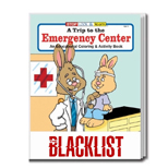 Logo Imprinted Coloring Books - A Trip to the Emergency Center Coloring Book