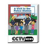 Custom Logo Coloring Books - A Visit to the Police Station