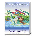 The Monster Fun Logo Imprinted Coloring Book - Monster Fun Coloring Book