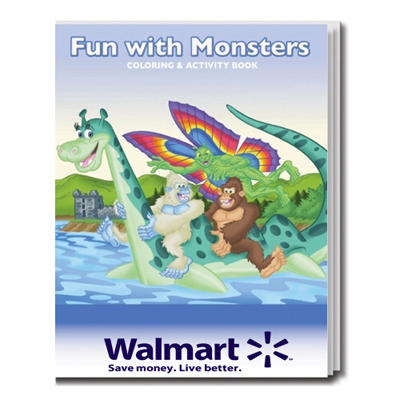 Monster Fun Coloring Book
