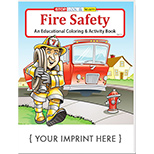 The Fire Safety Bulk Imprinted Coloring Book - Bulk Fire Safety Books
