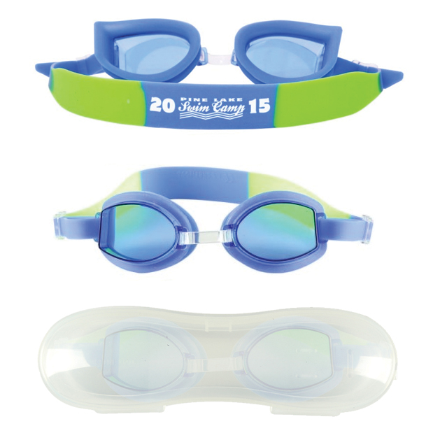 childrens blue swim goggles