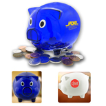 Imprinted Logo Piggy Bank - Bulk Logo Piggy Banks