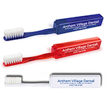 Custom Bulk Traveler's Toothbrush - Promotional Traveler's Toothbrush