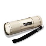 21159 - Silver Super 9 LED Flashlight