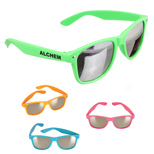 Custom Logo Mirrored Sunglasses - Promotional Mirrored Sunglasses