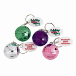 Promotional Disco Ball Key Tag - Logo Disco Ball Key Tags