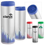 Promotional Soundwave Stainless Steel Tumbler - Custom Soundwave Steel Tumbler