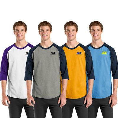 sport-tek®colorblock raglan jersey