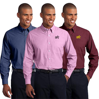 Port Authority Men's Crosshatch Easy Care Shirt