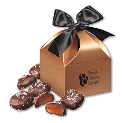 Chocolate Caramels in Copper Gift Box