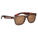 Custom Malibu Sunglasses (Tortoise) - Imprinted Malibu Sunglasses
