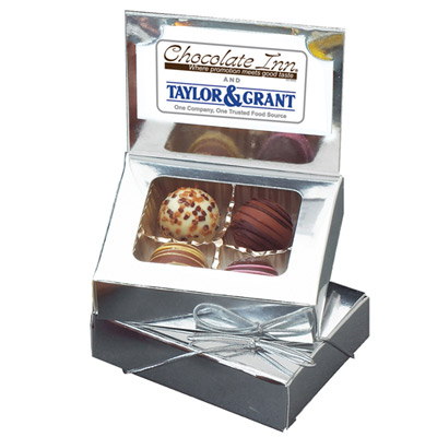 promotional card box with truffles