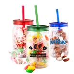 Custom Mason Jars - Personalized Mason Jars with Salt Water Taffy