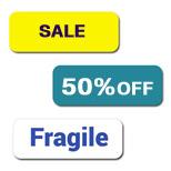 Custom 1 x 3  Rectangle Labels - Polypropylene
