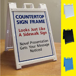 Promotional Mini Table A-Frame Sandwich Sign