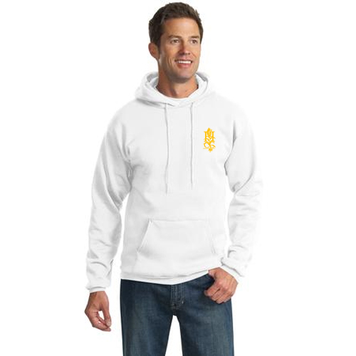promotional Port & Company white hooded sweatshirt