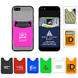 Promotional Silicone Cell Phone Wallet - Custom Silicone Cell Phone Wallet