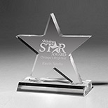 Personalized Large Star Award - Custom Large Star Awards
