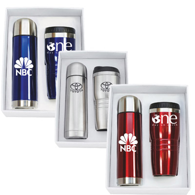 stainless steel tumbler & thermos set