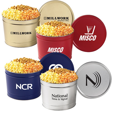 3 flavor popcorn tin - 2 gal.