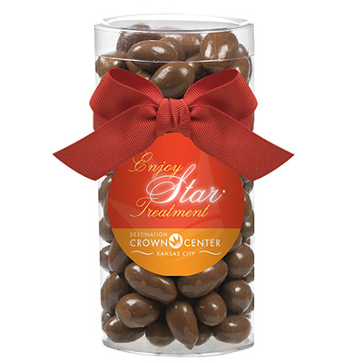 Large Gift Tube with Chocolate Almonds