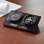 Personalized Auto-Adjusting Aviator Clock - Buy Auto-Adjusting Aviator Clock