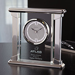 Custom Radiance Glass Clock - Logo Imprinted Radiance Glass Clock