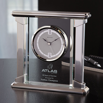 Radiance Glass Clock